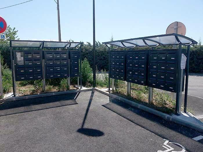 Couverture boites aux lettres - Mobilier municipal