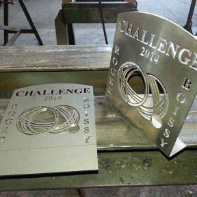 Challenge en fer découpé boules