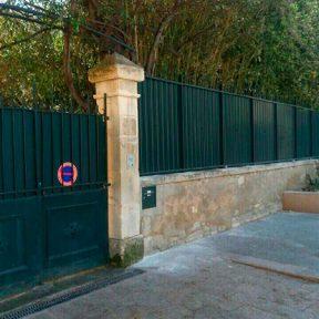 Clôture métallique et portail fer
