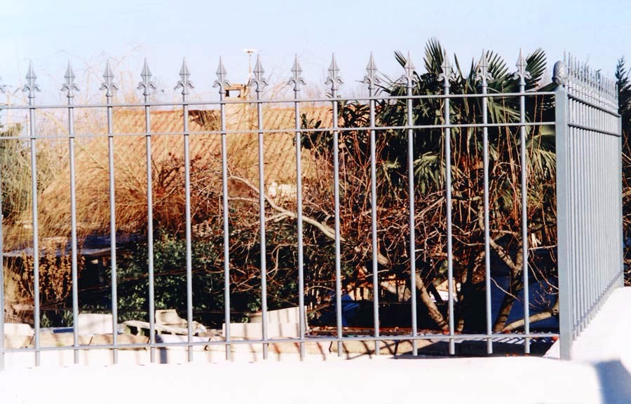 Cloture maison en fer