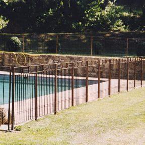 Cloture ferronnerie piscine