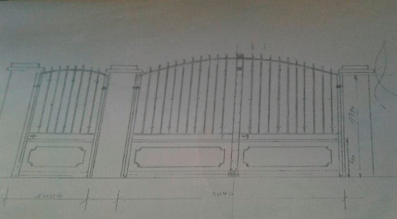Croquis portail et portillon