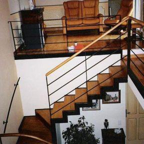 escalier fer tournant - ferronnerie sigonneau -vaucluse