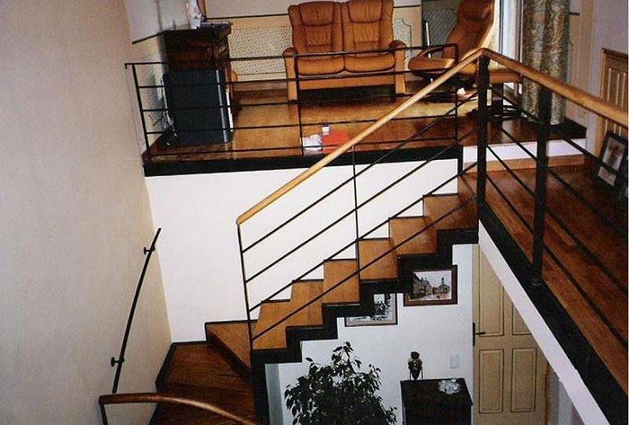 Escalier fer et bois