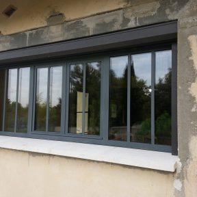 Fenêtre fer menuiserie ouverture