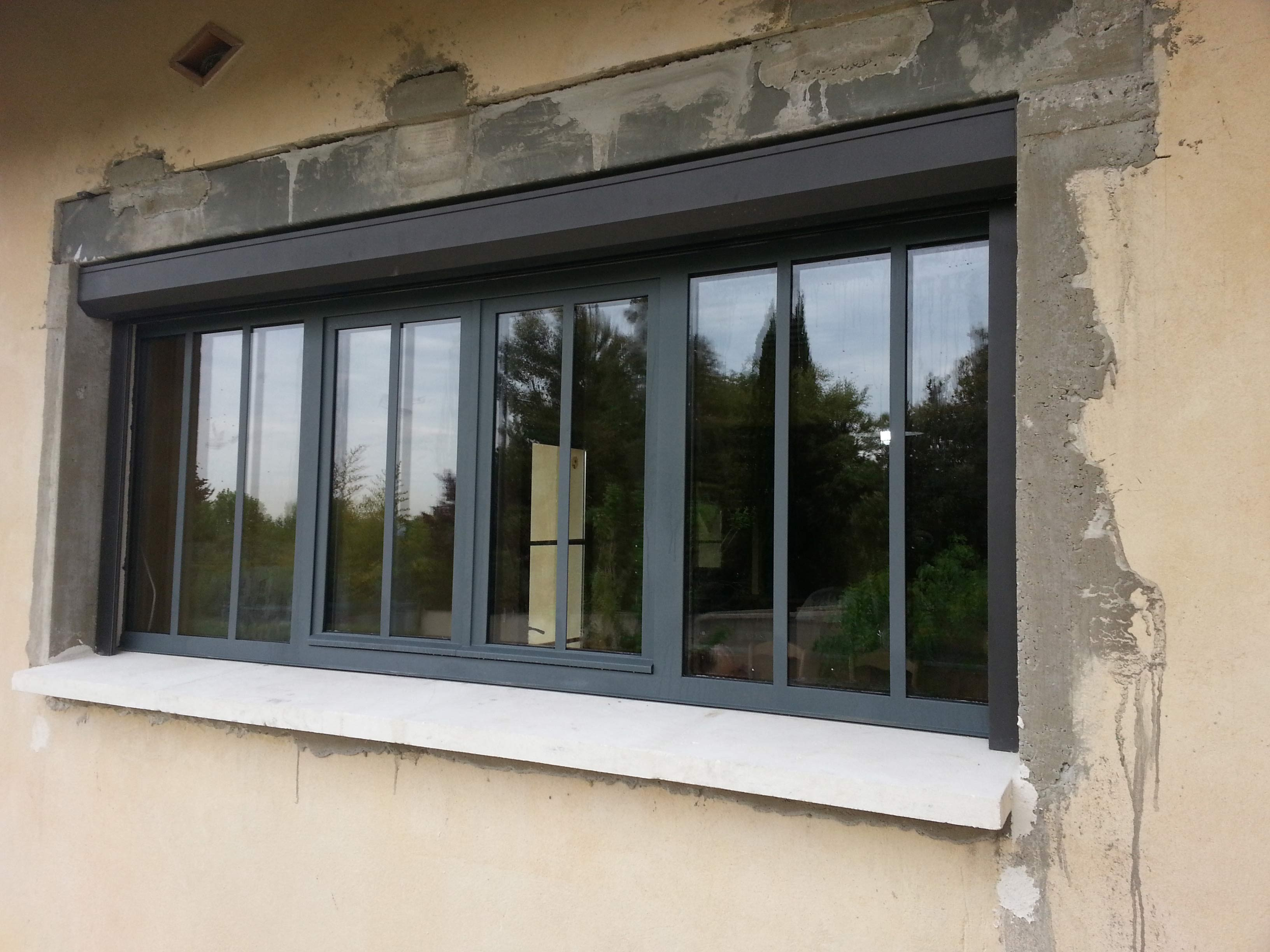 Menuiserie baies for Fenetre type atelier exterieur
