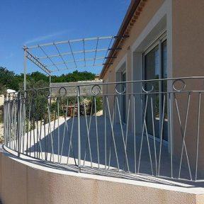 Grille garde corps de terrasse