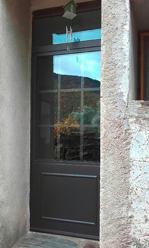 Porte métallique thermolaquée ferronnier