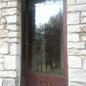 Porte métallique menuiserie