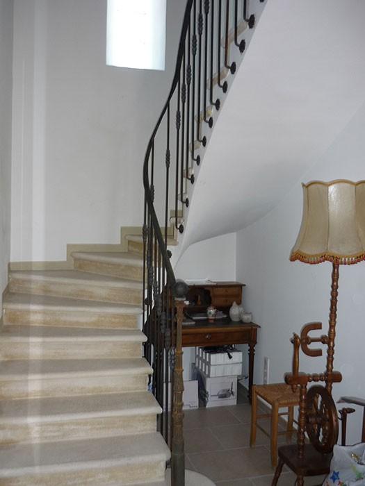 Rampe en fer escalier tournant