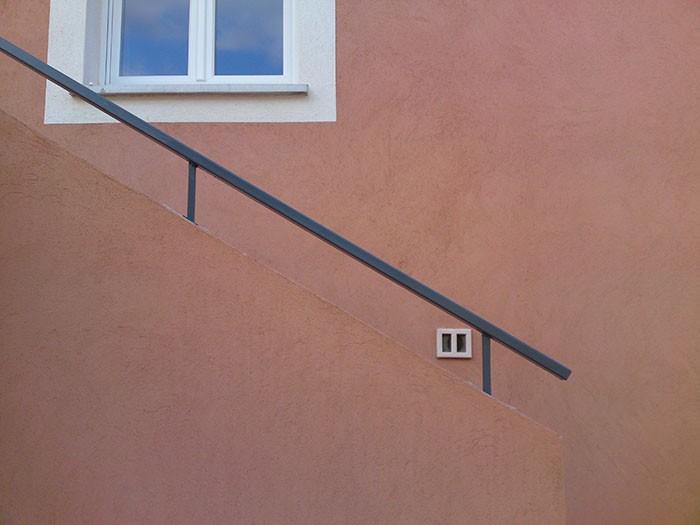 Rampe escalier droite