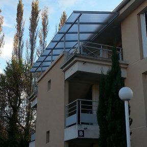 Auvent balcon résidence
