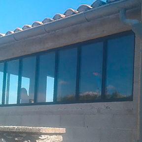 Baie vitrée, verrière fenêtre thermolaquée Gadagne