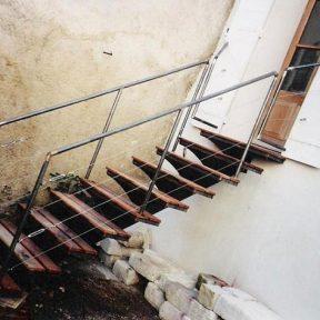 Escalier en fer extérieur