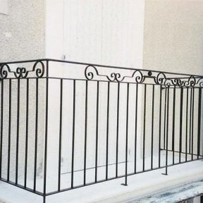 Grille garde corps étage