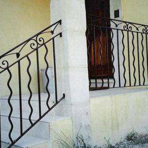 Grille garde corps et escalier