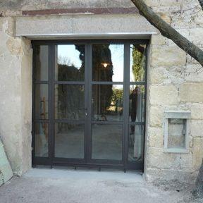 Menuiserie métallique baies en rénovation