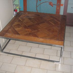 Meuble table basse fer forgé