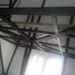 Structure mezzanine en fer