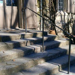 Rampe métallique escalier