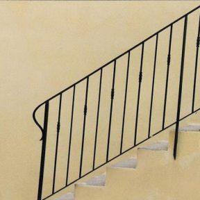 Rampe escalier fer extérieur