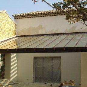 Verrière toiture ferronnerie